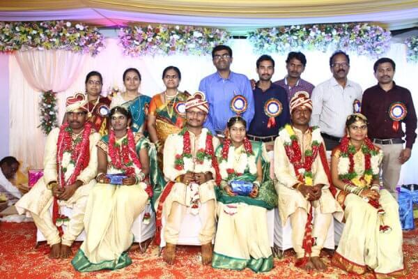 Yashoda Foundation team with newlywed couples